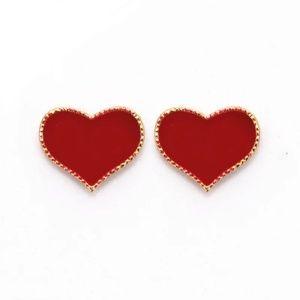 Jewelry - 🔥2 for $15🔥 RED Heart Stud Pierced Earrings